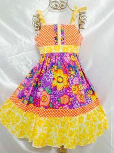 Girls Gipsy Dress Size 5 Handmade; Everyday Use; 100%cotton #Handmade #Everyday