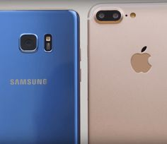 Samsung Galaxy Note 7 vs Iphone 7 Plus