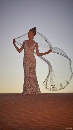 "BHLDN ~~ ""Meghan"" Sheath Wedding Gown & Chapel Length Embroidered Wedding Veil"