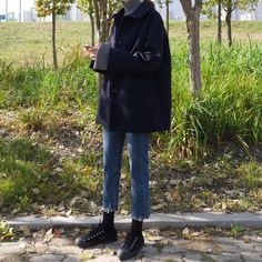 Women's Dress And Jacket Outfits Ulzzang Fashion, Asian Fashion, Look Fashion, High Fashion, Winter Fashion Outfits, Autumn Fashion, Mode Outfits, Looks Cool, Feminine Style