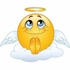 Illustration about Angel emoticon sitting on a cloud. Illustration of emoticon, angel, facial - 15453195 Smiley Emoji, Emoji Copy, Funny Emoji Faces, Emoticon Faces, Funny Emoticons, Smileys, Smiley Faces, Images Emoji, Emoji Pictures