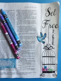 Illustrated Faith, Bible Art Journaling, Exodus 6:6-7 God set the Israelites free from slavery and redeemed them as He does us.By Lynn Egigian ...