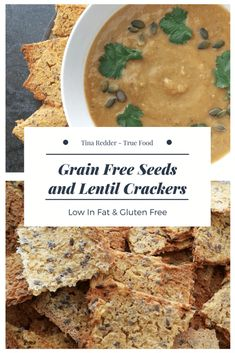 Grain Free Seeds and Lentil Crackers [ gf low fat ]
