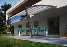 Terrassenüberdachung mit Alu-Gestell und Glas
