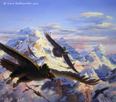 Bilbo and the Eagles by Ted Nasmith