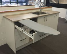 Laundry Display - Pull out ironing board