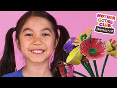 DIY Egg Carton Flowers Kids Craft | Show Me How by Mother Goose Club Schoolhouse - YouTube