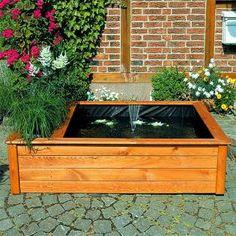 Houten vijverbak - plantenbak