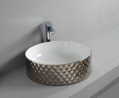 ROMBO designed by Meneghello Paolelli Associati #platinum #washbasin