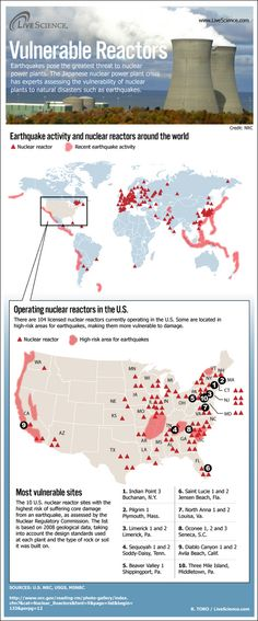 Map Shows Nuclear Reactors in Quake Zones (Infographic) | LiveScience