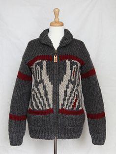 4ccd8386ae Corrine Hunt Artist Collaboration design. Aboriginal Peace symbol design.  Cowichan Sweater