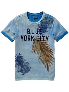 Shortsleeve Photoprint T-shirt | Jersey s/s tee's & tops | Boy's Clothing at Scotch & Soda