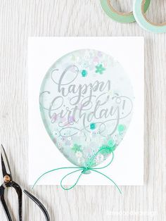 What a Fun Shaker card by Debby Hughes using a Simon Says Stamp Balloon Die.