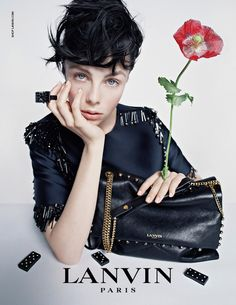 Edie Campbell photographed by Tim Walker for the Lanvin Fall 2014 advertising campaign.