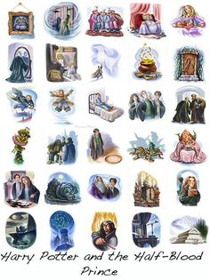 Harry Potter and the Half-Blood Prince Chapter Art #10YearsHalfBloodPrince