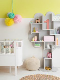 Yellow and Grey and white Baby Girl Nursery Design