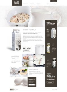 Food by Malgorzata Studzinska, via Behance ------  A website design all about food! I love the use of the photos which are beautiful and the typography keeps this photo collage still comprehensible and user friendly.