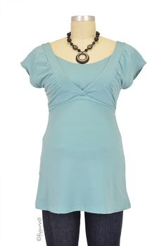 The Pheasant Nursing Top in Mist by Majamas with free shipping