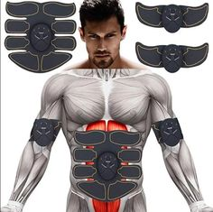 The muscle trainer is easy to Use. Abs Stimulation muscle build、for fitness shape. Build muscle,buile futness shape, keep fit with the ultimate Abs stimulator. 】- The USB Rechageable muscle stimulator is for body muscle training. Muscle And Nerve, Muscle Body, Gain Muscle, Build Muscle, Fitness Abs, Muscle Fitness, Muscle Nutrition, Squat, No Equipment Ab Workout