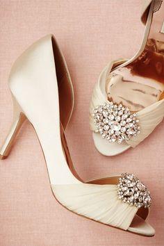Glamorous Peep Toe Heels Bridal - Vintage Inspired Bridal Finds