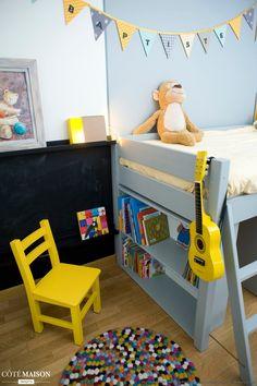 Chambre jaune de garçon 5 ans, Delphine Guyart - Côté Maison