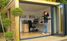 Create a quiet garden haven  Use your garden to create the extra space and rooms you need! A fabulous garden room office will give you some peace and quiet away from your home.
