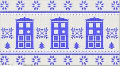 old fashioned 'winter jumper' TARDIS knitting pattern. i would wear the ugly christmas sweaters if ti had this on it