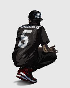 Dope Cartoons, Dope Cartoon Art, Trill Art, Supreme Wallpaper, Dope Wallpapers, Sneaker Art, Hip Hop Art, Dope Art, Urban Art