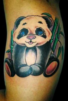 My panda tattoo!! Done by Chris at Cynical Tattoos in Northport, AL