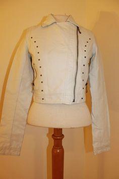 Xhilaration Jacket S Womens Studded Faux Leather Moto Coat #Xhilaration #Motorcycle