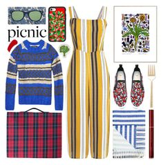 """""""picnic in colors"""" by foundlostme ❤ liked on Polyvore featuring Maison Scotch, By Terry, MSGM, Casetify, Thomaspaul, Kate Spade, Designers Guild, Wallace, Kevyn Aucoin and picnic"""