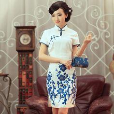 Qipao Cheongsam - white Chinese wedding dress