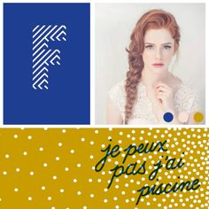 12⎥15 moodboard aureliedhuit.com #moodboard #tendance #December #decembre #inspiration #design #graphic #graphisme #redhead #rousse #letter #lettre #f #dots #points #lines #lignes #moutarde #mustard #jaune #yellow #couleurs #colors #pattern #piscine #pool #braid #natte Image Pinterest, Inspiration Design, Points, Art Director, Graphic, Movie Posters, Mustard, Yellow, Colors
