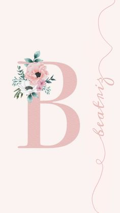 Alphabet Wallpaper, Name Wallpaper, Alphabet Design, Wallpaper Iphone Disney, Sky Aesthetic, Happy Birthday Cakes, Letter B, Manicure, Symbols