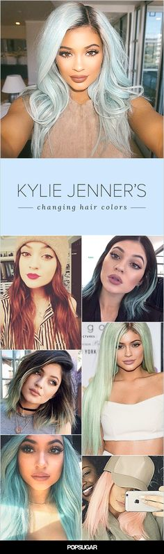 While Kylie Jenner may be famous for her plump pout, her colorful hair changes are what's keeping her on our must-watch list. Her recent forays into mint and blond are far from her first dabbles into dye — the teen has experimented with her strands for years! Wigs or not, we still can't help but stare. Keep reading to see all of her hair hues so far.