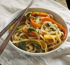 Thai Drunken Noodles  (I want to try this with zucchini noodles or spaghetti squash; kelp noodles?)