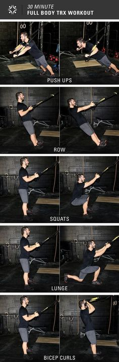 5 Insanely Effective TRX Exercises For A Total-Body Workout 5 Exercises, 30 Minutes = Full Body Workout – 30 Days Workout Challenge Fitness Workouts, Sport Fitness, Yoga Fitness, Trx Workout, Trx Full Body Workout, Body Workouts, Suspension Training, Trx Suspension, Trx Training