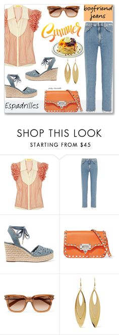 """""""Boyfriend Jeans: 05/07/17 (TFS060717)"""" by pinky-chocolatte ❤ liked on Polyvore featuring Catherine Malandrino, Acne Studios, MICHAEL Michael Kors, Valentino, Chloé and Kenneth Jay Lane"""