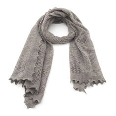 Grey Nottingham Lace Scarf by Quinton & Chadwick