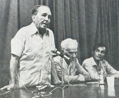 Com Gregório Bezessa, em Recife.  1980