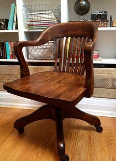 Image result for pinterest bankers desk chair in vintage office