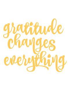 gratitude free printable