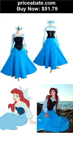 Women-Costumes: Adult The Little Mermaid Ariel Princess Cosplay Halloween Costume Party Dress - BUY IT NOW ONLY $51.79