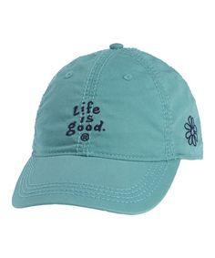 93f325ea832 Life is Good® Aqua Blue Essentials Chill Baseball Cap - Women