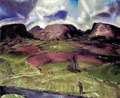 1920 Trout Stream and Mountains - George Bellows