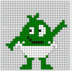 Min mamma jobbar som Förskollärare och frågade om jag kunde göra Babblarna i pärlplattor. Så jag satte mig ner vid skrivbordet och började pyssla ihop lite pärl