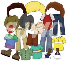 ADD ON Boy Dress Up School Clothes Children's File Folder Game - Downloadable PDF Only