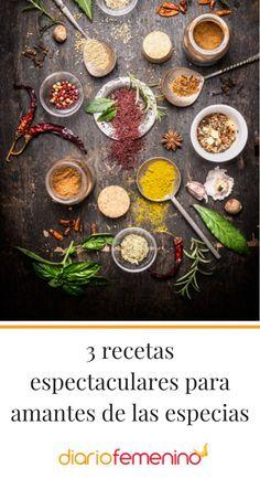 3 recetas elaboradas con especias 😋  #recetas #recetasfáciles #recipes #healthyrecipes #recetassanas #recetasconespecias #DiarioFemenino