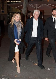 Smitten: Richard Gere, 66, and his girlfriend Alejandra Silva, 32, were spotted on a roman...