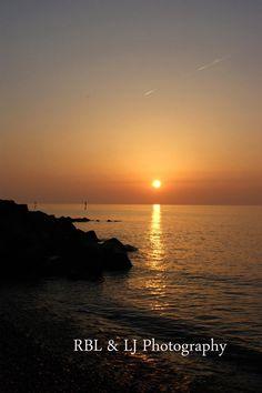 Sheringham beach, sunset Norfolk